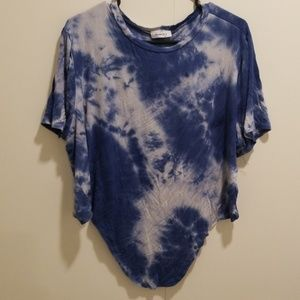 Blue tie dye crop top from Forever 21
